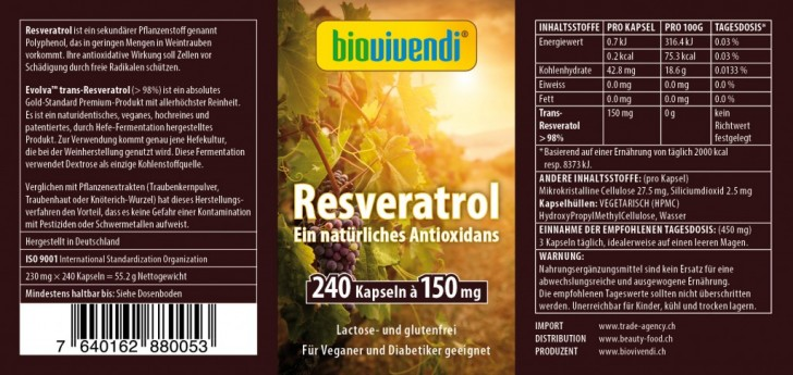 Resveratrol Antioxidans
